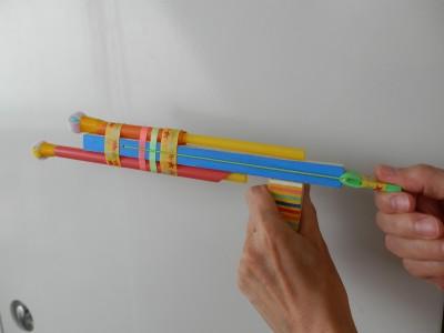 おもちゃづくり(ストローとばしとキラキラ)/コンブのおもちゃ